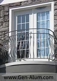 Custom Railing, Curved Juliet Balcony