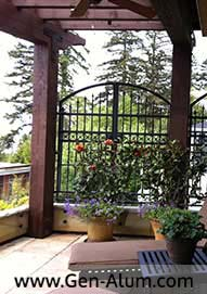 Custom Railing, Curved Top Garden Gates