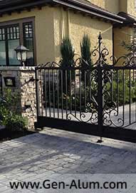 Custom Railing, Driveway Gate, South Lands