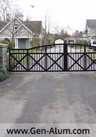 Double Swing Driveway Gate, Langley