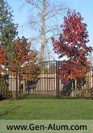 Double Swing Driveway Gate, Morgan Creek