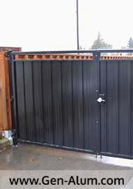 Double Swing Panel Driveway Gate, Burnaby