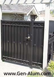 Panel Gate, with Design & Sheet Panel Back