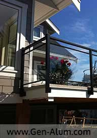 Double Top Glass Railing