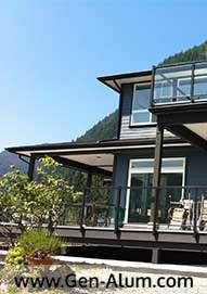 Glass Railing, Pitt Lake