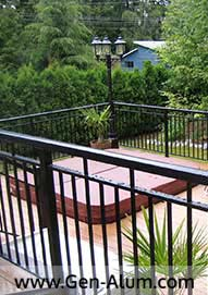 Double Top Picket Railing Custom Punch, Coquitlam