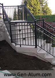 Double Top Picket Railing with Diamonds