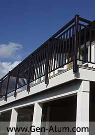 Double Top Wide PIcket Railing