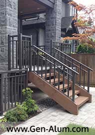 Double Top Wide Picket Railing PV, Vancouver