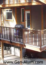Wide Picket Railing Custom Punch
