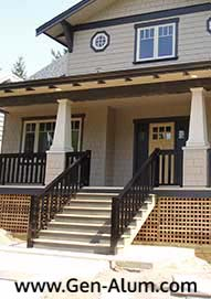 Aluminum Wood Look Railing