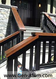 Aluminum Wood Look Railing  with Wood Cap, Vancouver