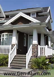 Aluminum Wood Look Railing , Burnaby