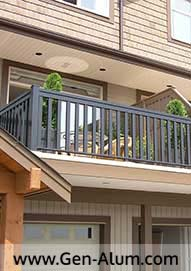 Aluminum Wood Look Railing, Coquitlam