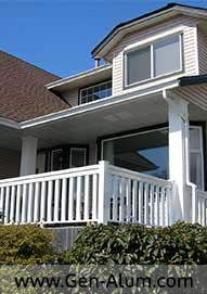 Aluminum Wood Look Railing, Maple Ridge