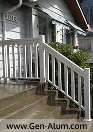 Aluminum Wood Look Railing, North Burnaby