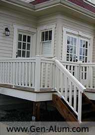 Aluminum Wood Look Railing, North Vancouver