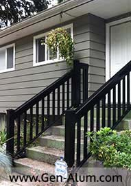 Aluminum Wood Look Railing, Port Coquitlam